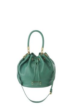 A key Marc by Marc Jacobs accessory, the Too Hot to Handle Drawstring bag is a perfect day-to-night bag. The Drawstring bag features our modernized logo plaque detailing, drawstring closure, and a detachable cross-body strap for an alternate carrying option. 100% Cow Leather. 13.75