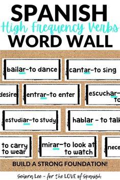 Spanish Verbs Bulletin Board - Spanish Word Wall