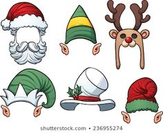 Stock vector of 'Cartoon Christmas hats. Vector clip art illustration with simple gradients. Each item on a separate layer. Christmas Doodles, Christmas Drawing, Christmas Clipart, Noel Christmas, Christmas Crafts For Kids, Christmas Images, Diy Christmas Ornaments, Christmas Design, Holiday Crafts
