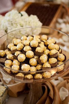 I like the idea of a candy option at the dessert table - his & hers? peanut butter cups & brix individuals?