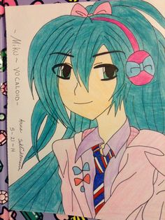 *my pin* miku. Vocaloid. #anime drawing. -Anna chen