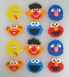 Sesame Street Cupcake/Cookie Toppers  1 Dozen by sweetenyourday, $18.00