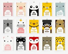 Kids Wall Art: Good Manners Flash Cards by Etsy seller loopzart, http://www.etsy.com/listing/94361299/children-decor-good-manners-5-x-7-flash?