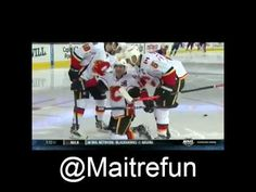 Hockey funny - Mike Cammalleri without blade ! Of Montreal, Blade, Hockey, Baseball Cards, Funny, Sports, Sport, Ha Ha, Hilarious