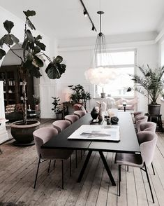 Gorgeous 30 Modern Minimalist Dining Room Design Ideas for C.- Gorgeous 30 Modern Minimalist Dining Room Design Ideas for Comfortable Dinner With Your Family - Living Room Modern, Living Room Interior, Living Room Decor, Kitchen Living, Kitchen Interior, Modern Dinning Room Ideas, Modern Dining Rooms, Mauve Living Room, Modern Table And Chairs