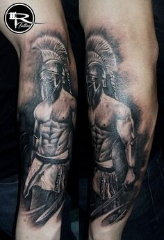 tattoo spartan, tattoo warrior, tattoo Ricardo, tatuaż wojownik