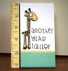 Cute birthday card idea - would work with the Cricut giraffes