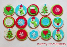 christmas cupcakes toppers