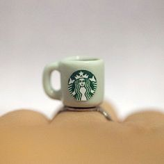 Hey, I found this really awesome Etsy listing at https://www.etsy.com/listing/220059921/miniature-starbucks-coffee-ring-with