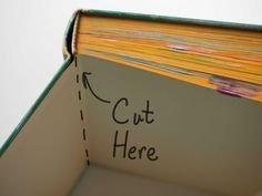 To Turn a Book into a Journal spine.make a journal/scrapbook from an old bookspine.make a journal/scrapbook from an old book Handmade Journals, Handmade Books, Handmade Notebook, Old Book Crafts, Paper Crafts, Craft Books, Mini Albums, Diy Papier, Old Books
