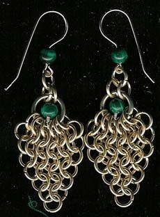 Waterfall Chain Maille Earrings Tutorial