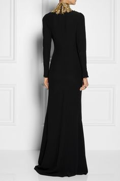 Alexander McQueen | Embellished cutout crepe gown | NET-A-PORTER.COM