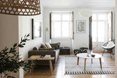Apartment Renovation in Lisbon by Arkstudio Small Living Room Design, Living Room Designs, Home Living, Apartment Living, Lisbon Apartment, Interior Design Trends, Modern Apartment Design, Modern Design, Scandinavian Style Home