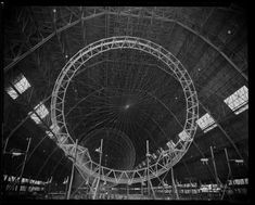 Construction of the USS Akron.