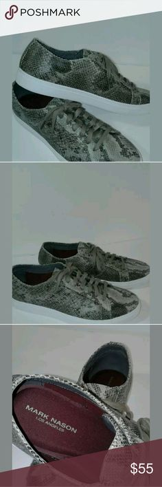 """SNAKE SKIN SNEAKERS """"ROWHER"""" New without box or tags. These shoes are in Perfect condition.  They are SURE to bring you tons of compliments. They are sharp as HECK! Mark Nason Shoes Sneakers"""