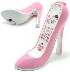 Hello Kitty Stiletto Phone...Super Cute!