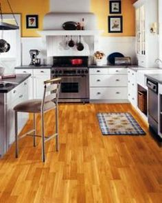 Matt & I have been looking at laminate for the kitchen and back room, I kinda like this look!