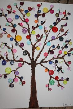 Tree of Mini Butterflies Upcycled Love You Forever or Your Book Selection / Personalized at Bottom / Made to Order Diy Arts And Crafts, Diy Crafts For Kids, Home Crafts, Art For Kids, Paper Crafts, Homemade Art, Autumn Crafts, Button Art, Craft Work