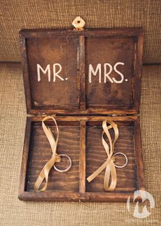Love this idea of a handmade box for the ring bearer to carry down the aisle. What a creative idea instead of the traditional ring bearer pillow.