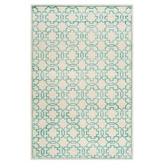 Hand-knotted wool-blend rug with lattice motif.   Product: RugConstruction Material: Wool and viscose...