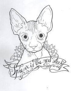 Sphynx Cat Tattoo Designs #wolfcat - Catsincare.com!