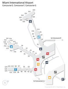 mia miami international airport terminal map travel pinterest