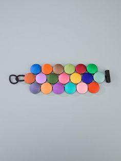 CECILE BERTRAND - multicoloured button cuff