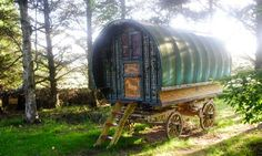 Roulotte Retreat, Melrose, Scottish Borders    Cuddle up in a roulotte (a French Gypsy caravan with knobs on) in a burnside meadow in the wilds of the Scottish Borders close to Melrose and the Eildon Hills. The Roulotte Retreat's four beautiful bohemian glamvans include Devanna (Indian silks and shades of peacock) and Karlotta (art deco meets Marrakech), each offering a bedroom, bathroom and salon with woodburner and kitchenette.   • From £205 for two nights through Canopy & Stars