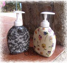 El rincón de Chelo: Jaboneras decoradas con decoupage....