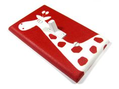Christmas Red with White Giraffe Light Switch by ModernSwitch, $8.00