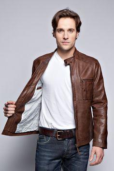 leather jacket men - Google Search