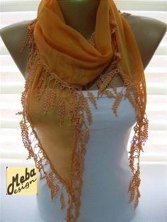 Orange scarf women scarves   fashion scarf  gift by MebaDesign