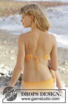 FREE CROCHET PATTERN 170-15 Tahiti pattern by DROPS design. I like the back of the bikini top.