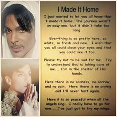 You touch many hearts .. So sad you had 2 leave us. We love and miss you so much and dearly. #RIH #Prince