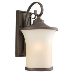 Del Prato Chestnut Bronze 9.25-Inch Wide One-Light Fluorescent Outdoor Wall Lantern
