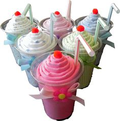 Receiving Blanket Milkshake ~ these would be cute to make
