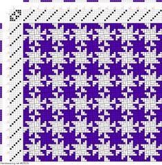 draft image: Figurierte Muster Pl. XIX Nr. 15, Die färbige Gewebemusterung, Franz Donat, 6S, 6T