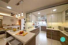 See how these homeowners reworked the unruly floorplan and breathed new life to these HDB executive maisonettes Interior Design Singapore, Interior Design Kitchen, Condo Interior, Kitchen Cabinet Styles, Apartment Kitchen, Kitchen Styling, Home Renovation, Feng Shui, Home Kitchens