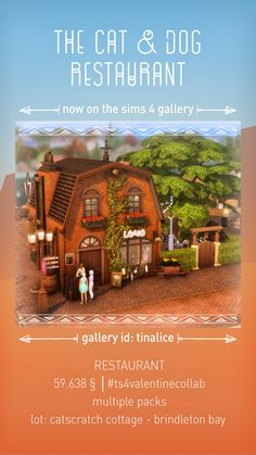 Sims 4 Restaurant, Restaurant Concept, Sims 4 Stories, Sims House Plans, Sims House Design, Sims 4 Build, Sims 4 Houses, Sims 4 Mods, Sims 4 Custom Content