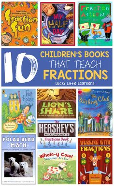 10 Children's Books That Teach Fractions.this post is great and also includes resources written for teachers to teach fractions! The teacher author who wrote the fraction resources has her master's degree in elementary mathematics. Teaching Fractions, Math Fractions, Teaching Math, Teaching Ideas, Multiplication, Teaching Supplies, Math Literature, Math Books, Grade Books