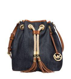 Marina Large Denim Shoulder Bag | Michael Kors