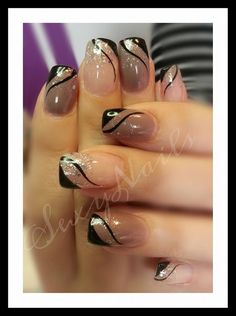 Nice fall colors - New Ideas Nail Tip Designs, Colorful Nail Designs, Fall Nail Designs, French Nails, Funky Nails, My Nails, Nagel Hacks, Short Nails Art, Glitter Nail Art