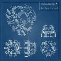 Iron Man -Stark Industries - Arc Reactor Blueprint by stntoulouse on DeviantArt