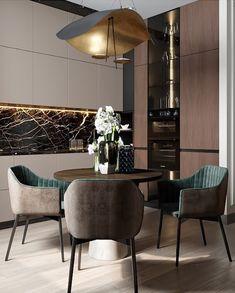 Most beautiful elegant modern dining room design ideas 18 Dining Room Interiors, Interior Design Kitchen, Home Decor, Kitchen Room Design, House Interior, Kitchen Furniture Design, Home Interior Design, Interior Design, Dining Room Design Modern