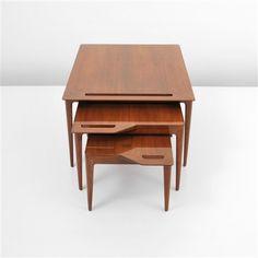 Nesting tables (set of 3 works) von Luisa and Ico Parisi