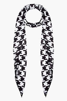 BALMAIN Black & White Houndstooth scarf