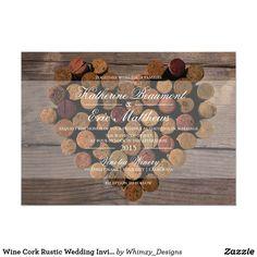 Wine Cork Rustic Wedding Invitation 5x7 Rustic Wine Cork wedding invitation. Customizable.