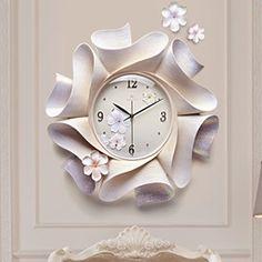 Diy Busy Books, Clock Craft, Kitchen Wall Clocks, Metal Art Projects, Wall Clock Online, Wall Clock Design, Mural Painting, Diy Wall Decor, Three Dimensional