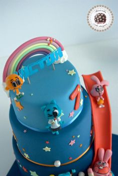 mesa-dulce-tarta-el-increible-mundo-de-gumball-cartoon-network-dessert-table-brithday-cake-barcelona-mericakes-cumpleanos-pastel-anabel-richard-darwin-fondant-13