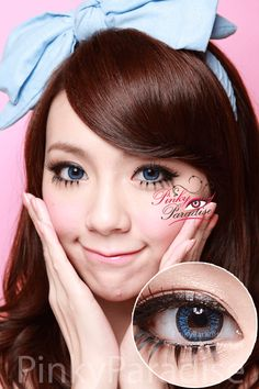 Venus Eye Blue Circle Lens (Colored Contacts)